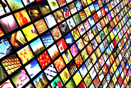 wall of many flat screens